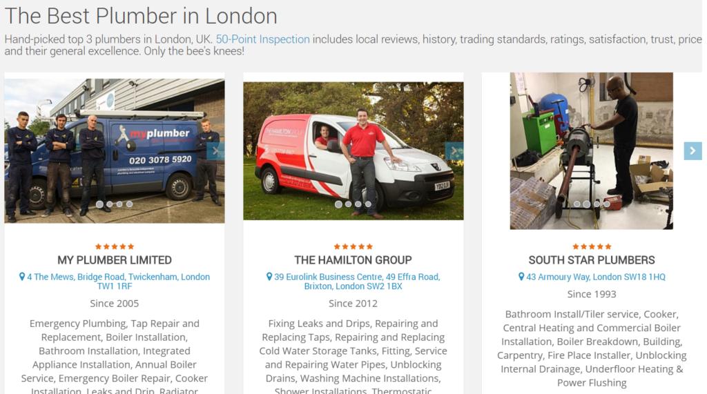 Best Low Cost Plumbers in London